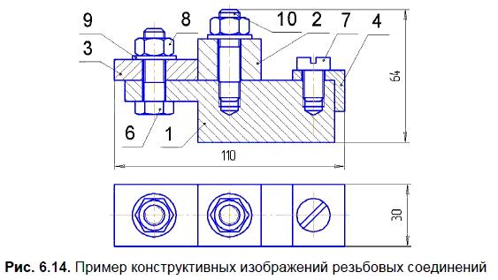 Чертежи соединений в компасе